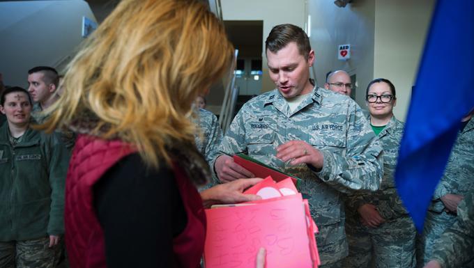 Community Schools Make Valentines for Veterans