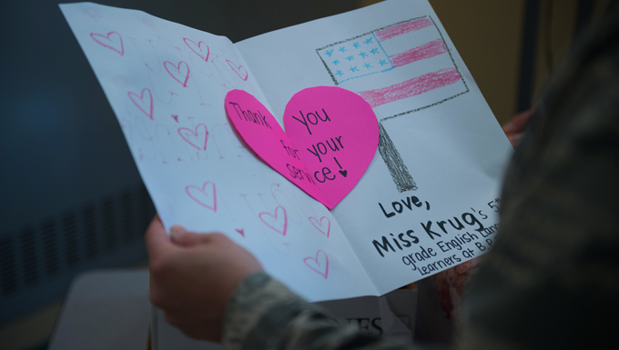 Community Schools Make Valentines for Veterans